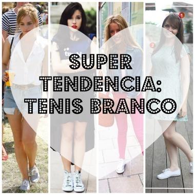 Super Tendência Tênis Branco