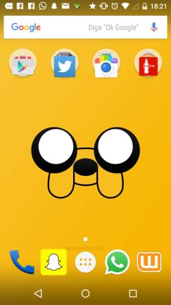 Essa é a tela principal do meu celular. E a sua?